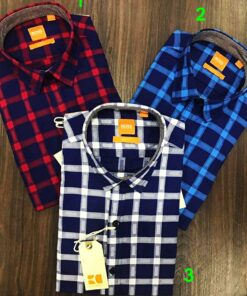 Hugo Boss Orange Check Shirts
