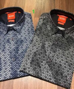 Hugo Boss Orange Printed Shirts