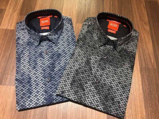 Hugo Boss Orange Printed Shirts