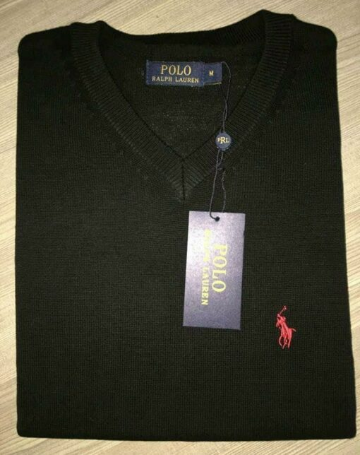 Ralph Lauren Pima Cotton V Neck Sweater