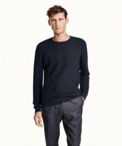 Zara Man Textured Knit Sweater