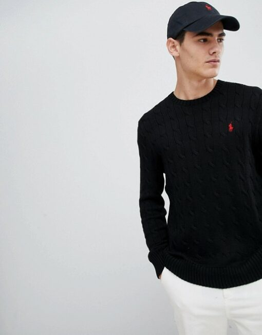 10234581 1 poloblack min 510x651 - Ralph Lauren Cable Knit Sweater
