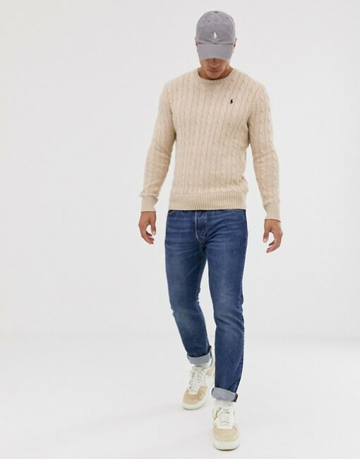 13041367 4 min 510x651 - Ralph Lauren Cable Knit Sweater