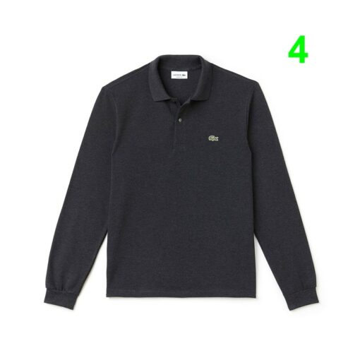 Lacoste Chine Cachou Classic Fit Long Sleeve Polo In Marl Petit Pique L1313 00 2 min 510x510 - Lacoste L12.12 2 Full Sleeve Pique Polo Pack