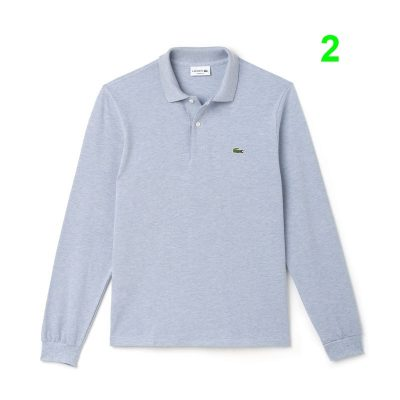 Lacoste Mist Chine Classic Fit Long Sleeve Polo In Marl Petit Pique L1313 00 2 min 400x400 - Lacoste L12.12 2 Full Sleeve Pique Polo Pack