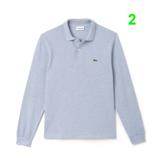 Lacoste Mist Chine Classic Fit Long Sleeve Polo In Marl Petit Pique L1313 00 2 min 510x510 - Lacoste L12.12 2 Full Sleeve Pique Polo Pack