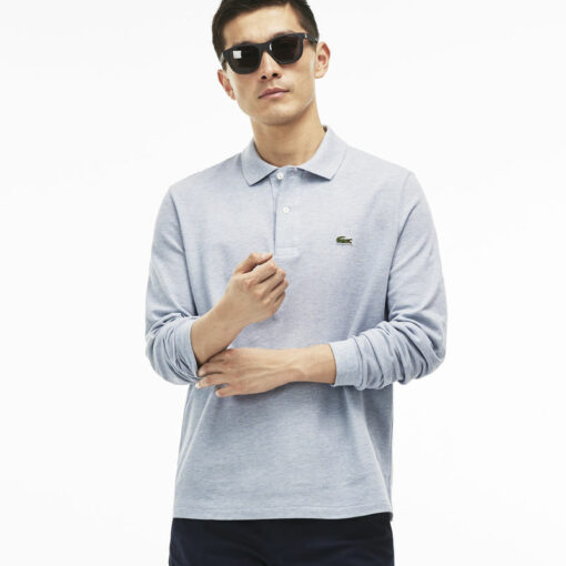 Lacoste Mist Chine Classic Fit Long Sleeve Polo In Marl Petit Pique L1313 00 min 510x510 - Lacoste L12.12 2 Full Sleeve Pique Polo Pack