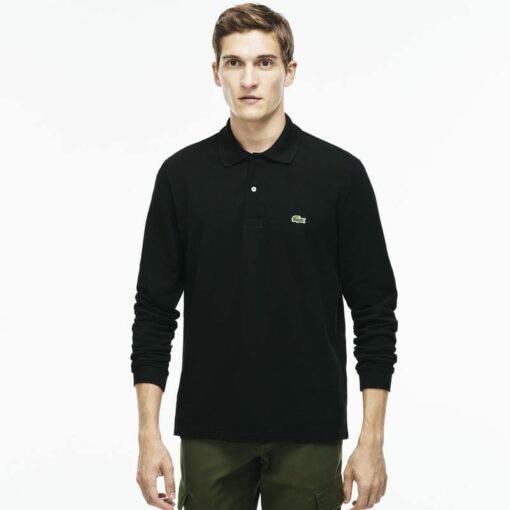 Long Sleeve Black Lacoste L 12 12 Polo L1312 00 min 510x510 - Lacoste L12.12 2 Full Sleeve Pique Polo Pack