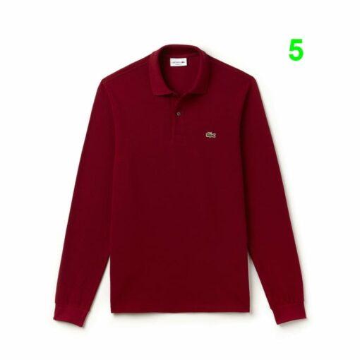 Long Sleeve Bordeaux Lacoste L 12 12 Polo L1312 00 2 min 510x510 - Lacoste L12.12 2 Full Sleeve Pique Polo Pack
