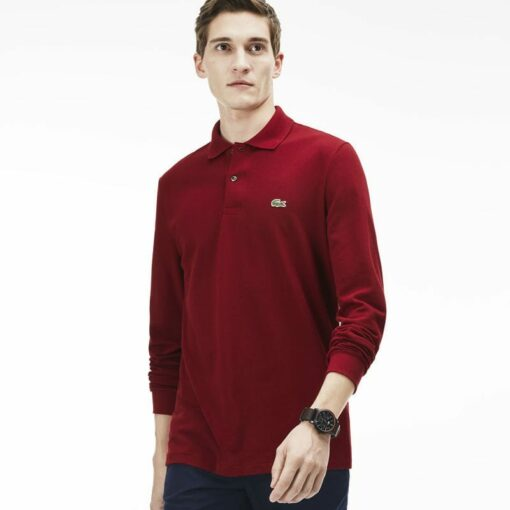 Long Sleeve Bordeaux Lacoste L 12 12 Polo L1312 00 min 510x510 - Lacoste L12.12 2 Full Sleeve Pique Polo Pack