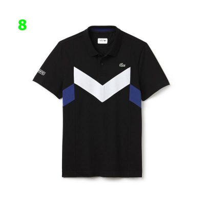 products Mens Black White Ocean Lacoste Sport Tennis Ultra Lightweight Colorblock Knit Polo Yh8032 00 2 400x400 - Lacoste Premium 2 Polo Pack