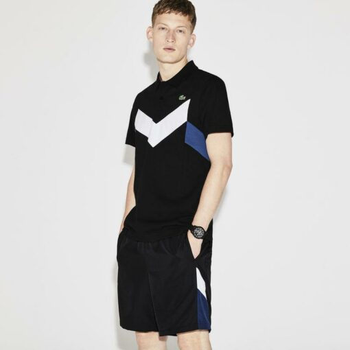 products Mens Black White Ocean Lacoste Sport Tennis Ultra Lightweight Colorblock Knit Polo Yh8032 00 510x510 - Lacoste Sport 2 Polo Pack